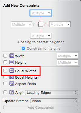 Auto Layout: Equal Widths
