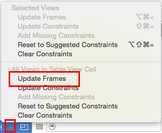 Resolve Auto Layout Issues: Update Frames