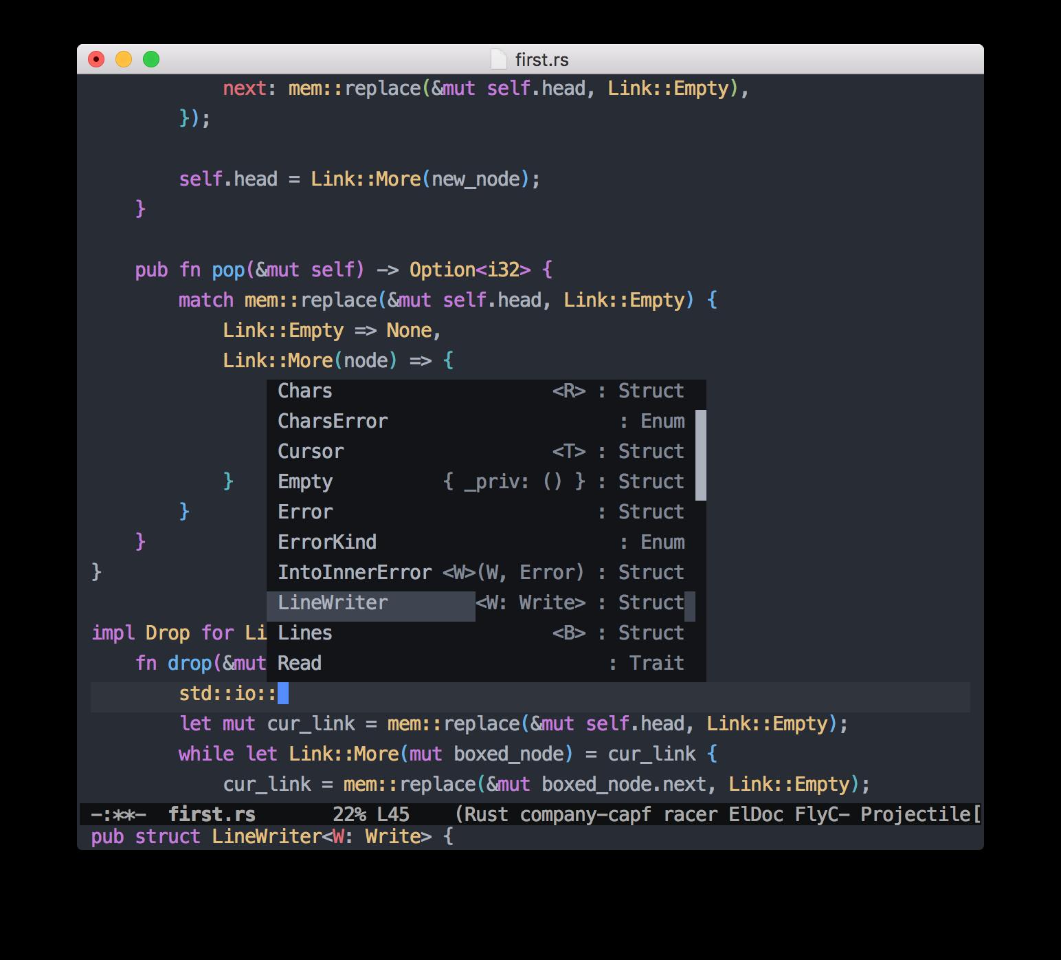 How to setup Emacs for Rust development | Oleksandr